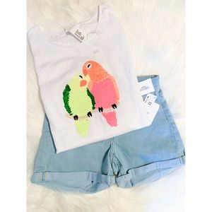 H&M Flippable T-shirt and Jean Shorts